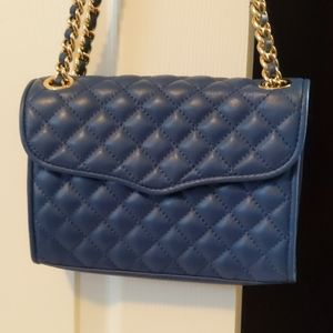 Rebecca Minkoff navy blue quilted bag - EUC